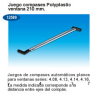 Juego compases 210 polyplastic 12589