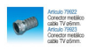 Conector metalico cable tv y sat. 5 mm 79923